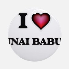 I love Unai Babui Northern Mariana Round Ornament