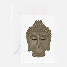 Buddha Head Greeting Cards