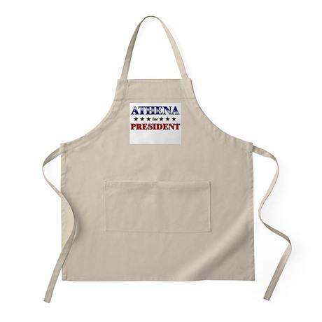 ATHENA for president BBQ Apron