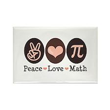 Peace Love Math Pi Rectangle Magnet (100 pack)