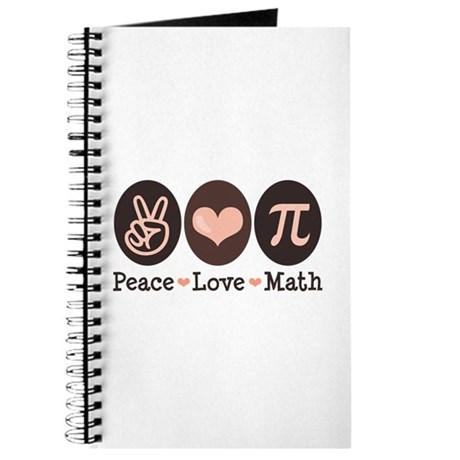 Peace Love Math Pi Journal
