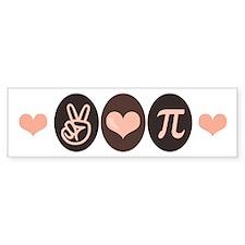 Peace Love Math Pi Bumper Bumper Sticker