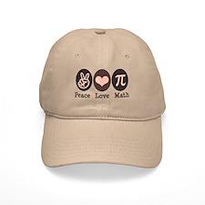 Peace Love Math Pi Baseball Cap