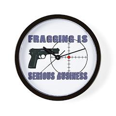 Serious Fragging Wall Clock