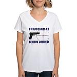 Serious Fragging Women's V-Neck T-Shirt