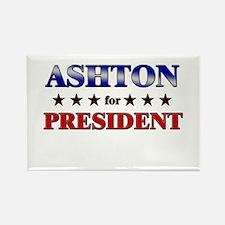 ASHTON for president Rectangle Magnet