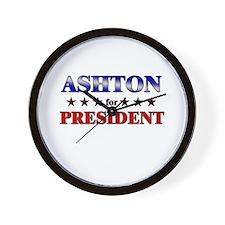 ASHTON for president Wall Clock