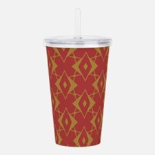 Red and Gold Diamonds Acrylic Double-wall Tumbler