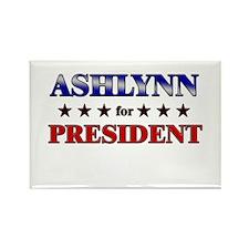 ASHLYNN for president Rectangle Magnet