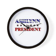 ASHLYNN for president Wall Clock