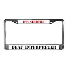 Deaf Interpreter License Plate Frame