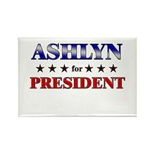ASHLYN for president Rectangle Magnet
