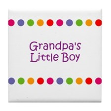 Grandpa's Little Boy Tile Coaster