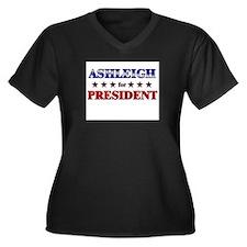 ASHLEIGH for president Women's Plus Size V-Neck Da