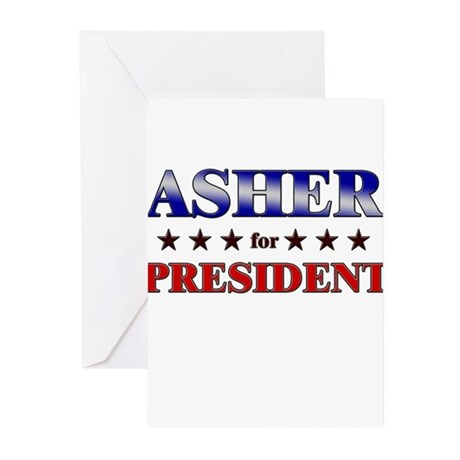 ASHER for president Greeting Cards (Pk of 20)