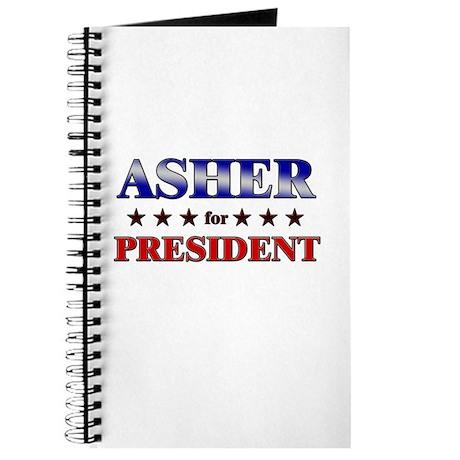 ASHER for president Journal