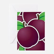 Funky plum Greeting Card