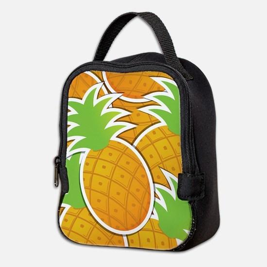 Funky pineapple Neoprene Lunch Bag