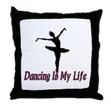 Dancing Life Throw Pillow