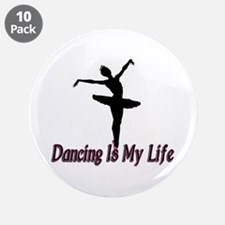 """Dancing Life 3.5"""" Button (10 pack)"""