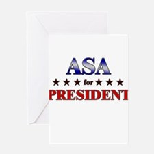 ASA for president Greeting Card