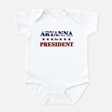 ARYANNA for president Infant Bodysuit