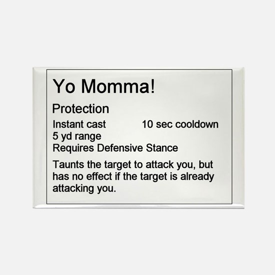 Yo Momma Taunt WoW Rectangle Magnet