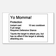 Yo Momma Taunt WoW Rectangle Decal
