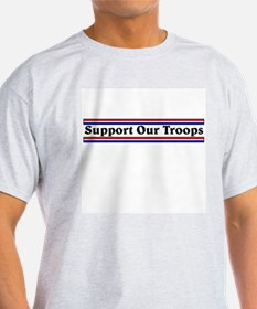Support Our Troops Ash Grey T-Shirt
