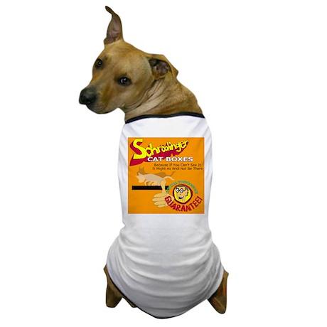 Schrödinger Cat Boxes Dog T-Shirt