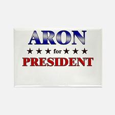 ARON for president Rectangle Magnet