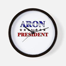 ARON for president Wall Clock