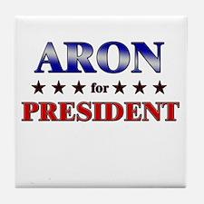 ARON for president Tile Coaster