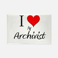 I Love My Archivist Rectangle Magnet