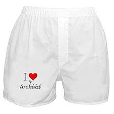 I Love My Archivist Boxer Shorts
