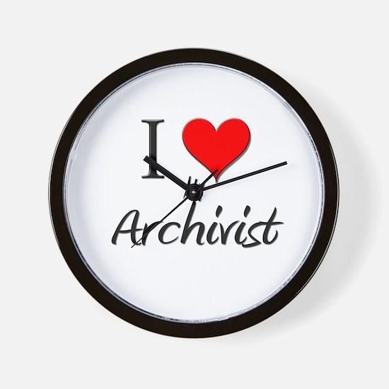 I Love My Archivist Wall Clock