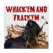 Wackem and trackem Tile Coaster