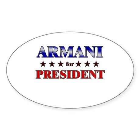 ARMANI for president Oval Sticker
