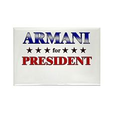 ARMANI for president Rectangle Magnet
