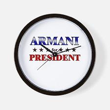 ARMANI for president Wall Clock