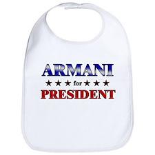 ARMANI for president Bib