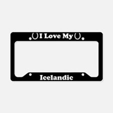 I Love My Icelandic Horse License Plate Holder
