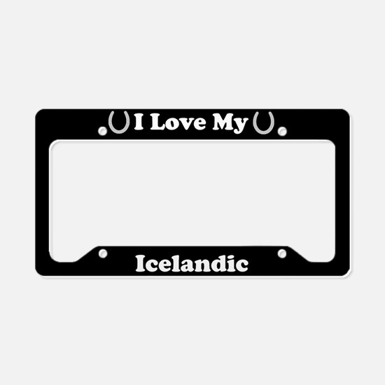 I Love My Icelandic Horse License Plate Holder