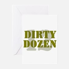 DIRTY DOZEN - 12 Greeting Cards