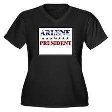 ARLENE for president Women's Plus Size V-Neck Dark