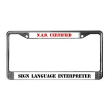 NAD Certified Interpreter License Plate Frame