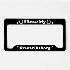 I Love My Frederiksborg Horse License Plate Holder
