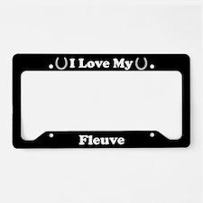 I Love My Fleuve Horse License Plate Holder