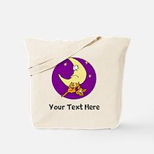 Cat And Moon (Custom) Tote Bag