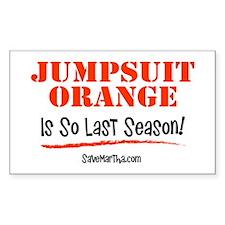 Jumpsuit Orange is So Last Season Decal